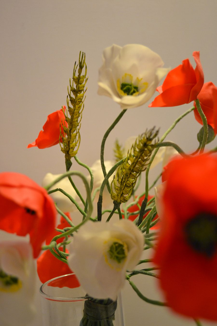 Gorgeous Handmade Clay Poppies Flowers Poppies Are In Red And White