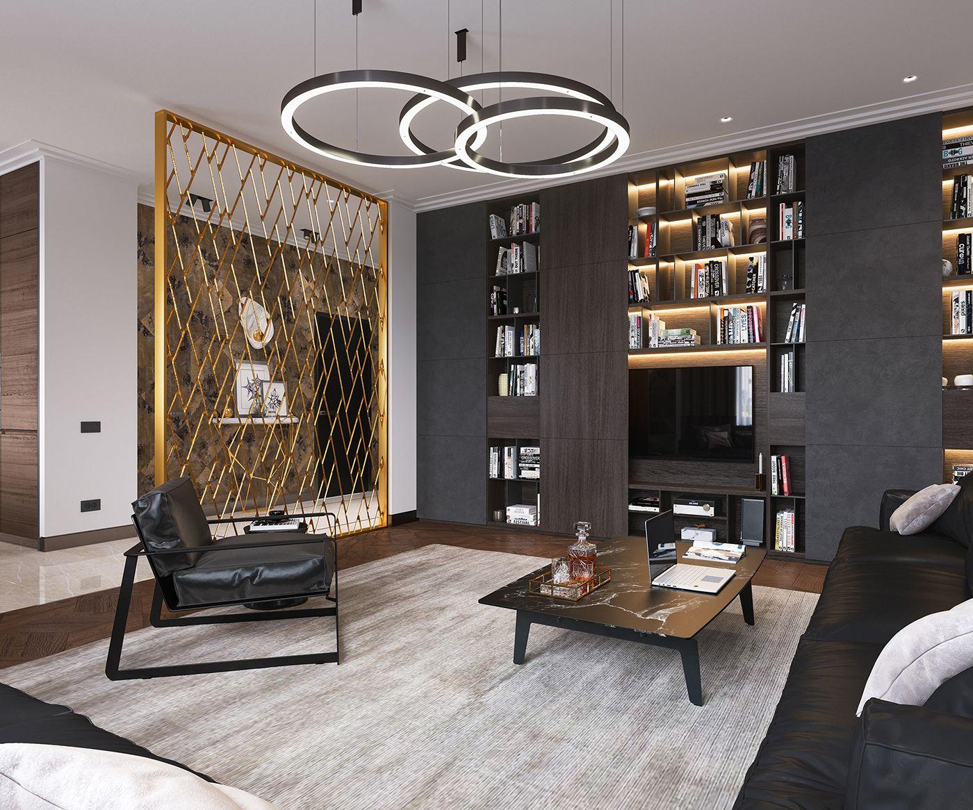 Bachelor apartment on Behance