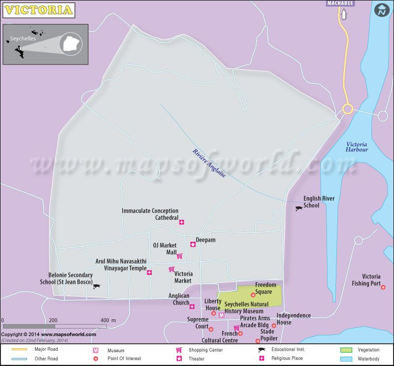 Victoria City Map Seychelles Maps Map Of Victoria