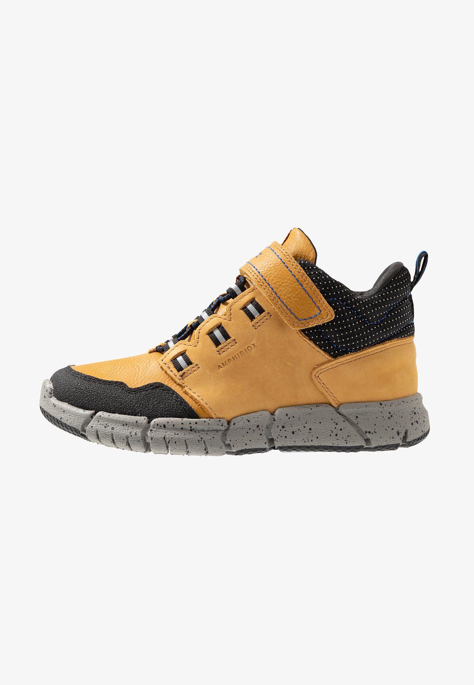 Geox Flexyper Boy Abx Sneakersy Wysokie Dark Yellow Royal Zalando Pl Winter Shoes Saucony Sneaker Shoes