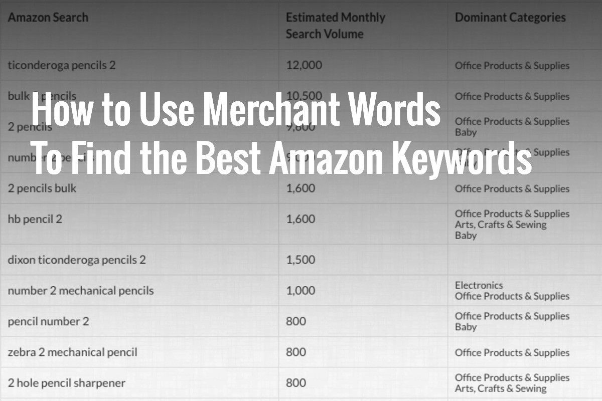 top amazon search words