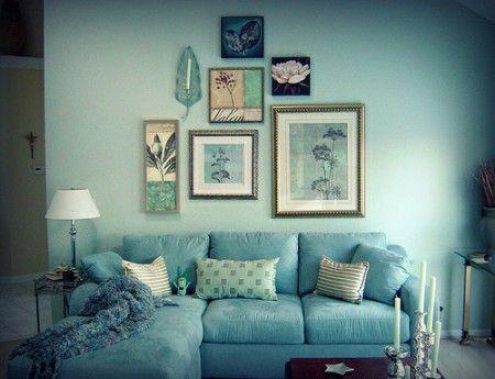 cuadros encima del sofa o con fotos manualidades