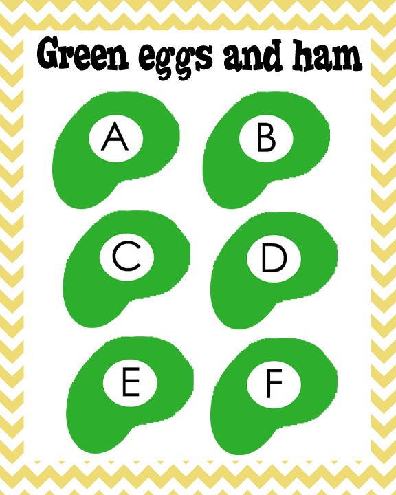 Green Eggs And Ham Abc S To Go Along With Green Eggs And