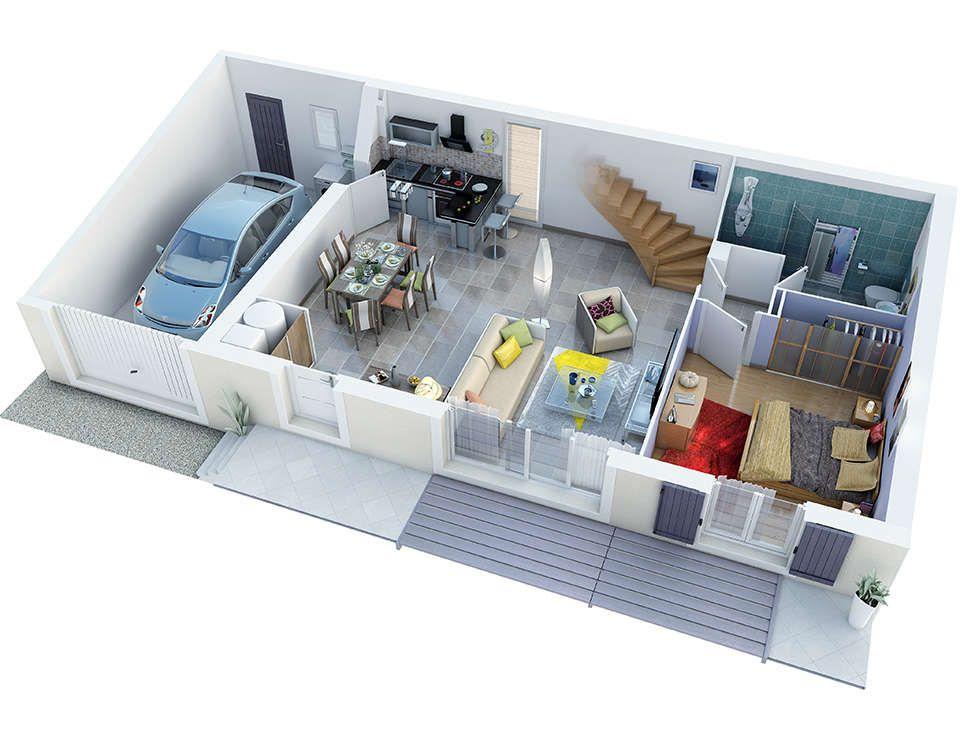 alliel rdc bd rvb72 Plans de maison Pinterest House