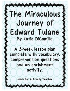 The Miraculous Journey of Edward Tulane - Guided Reading Lesson Plan. #ATrendyTeacher