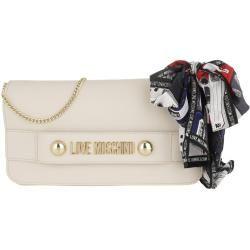 Photo of Love Moschino Logo Chain Crossbody Bag Avorio in weiß Umhängetasche für Damen Moschinomoschino