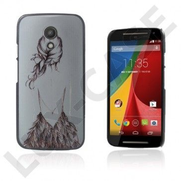 Persson (Tyttö Luonnos) Motorola Moto G2 Suojakuori