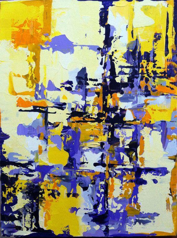 abstract painting on canvas modern original camden london