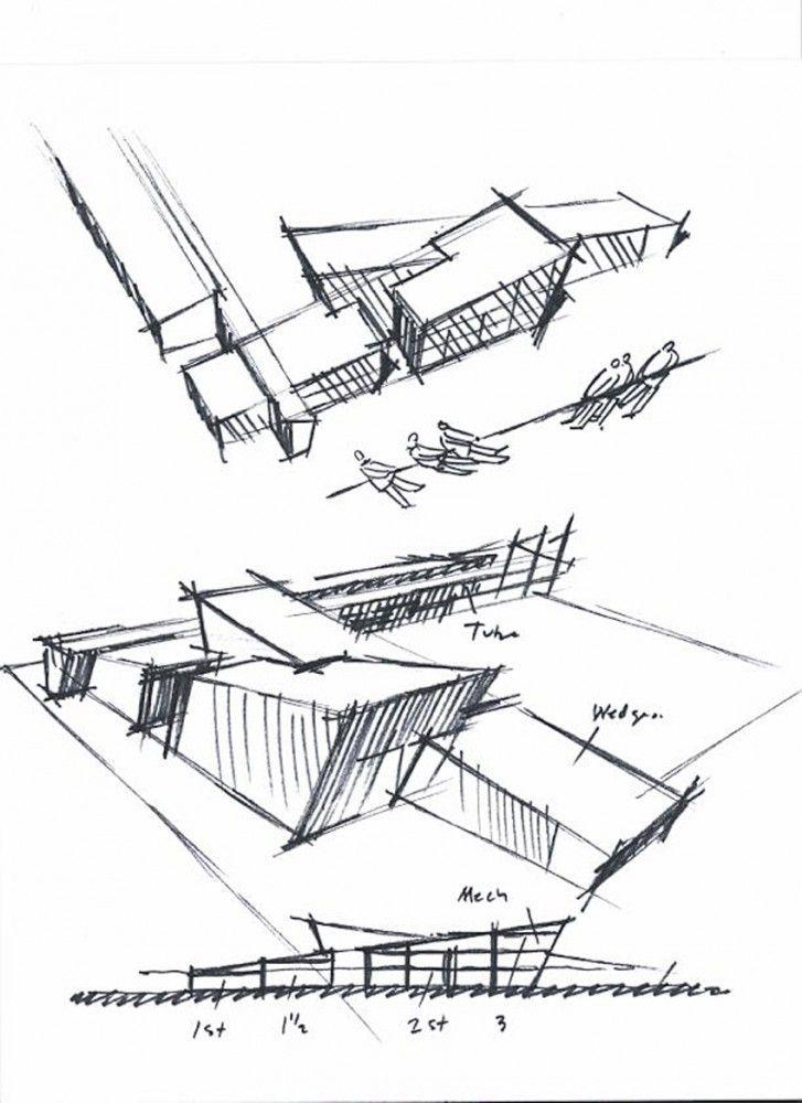 Architecture Design Concept Sketches mcmicken elementary school / tcf architecture | elementary schools
