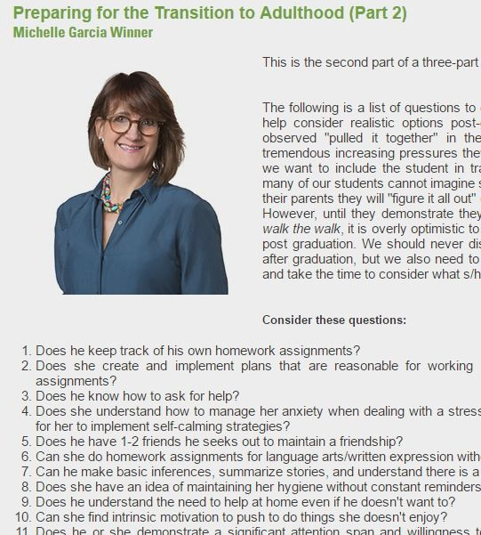 Questions to develop realistic options post-graduation ...