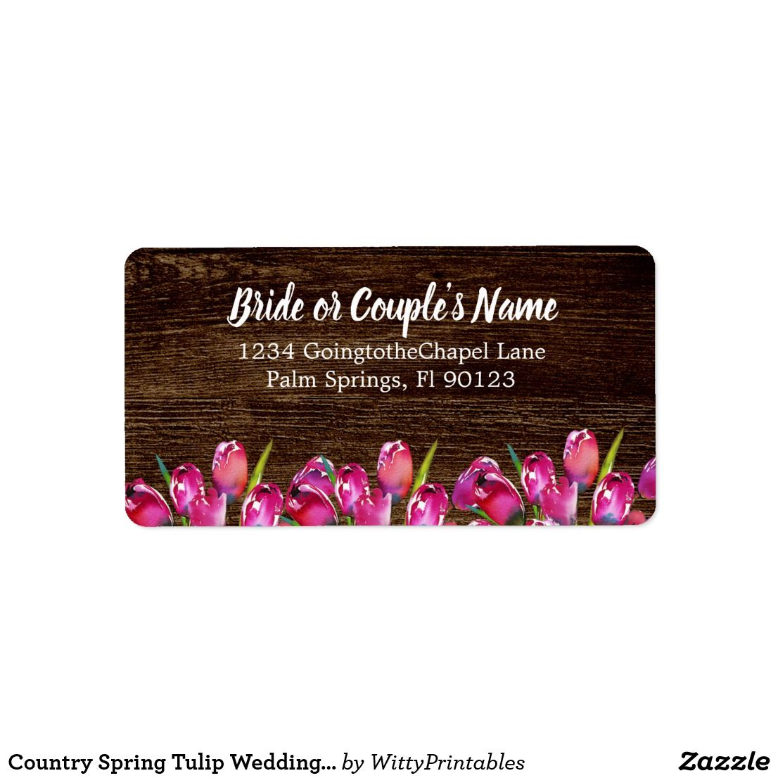 proper response time for wedding rsvp%0A Country Spring Tulip Wedding RSVP Address Label