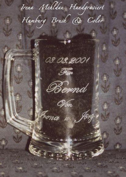 Schriftzug, Handgraviert