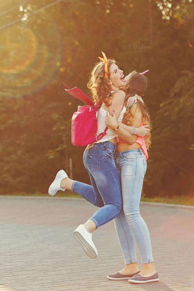 Best girlfriends. by Elena Vagengeim on @creativemarket