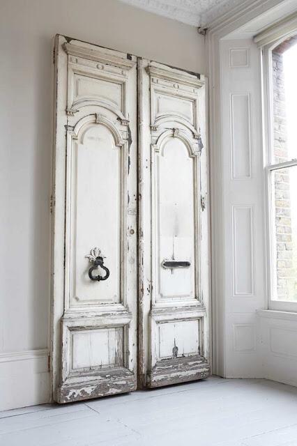 Antique white doors