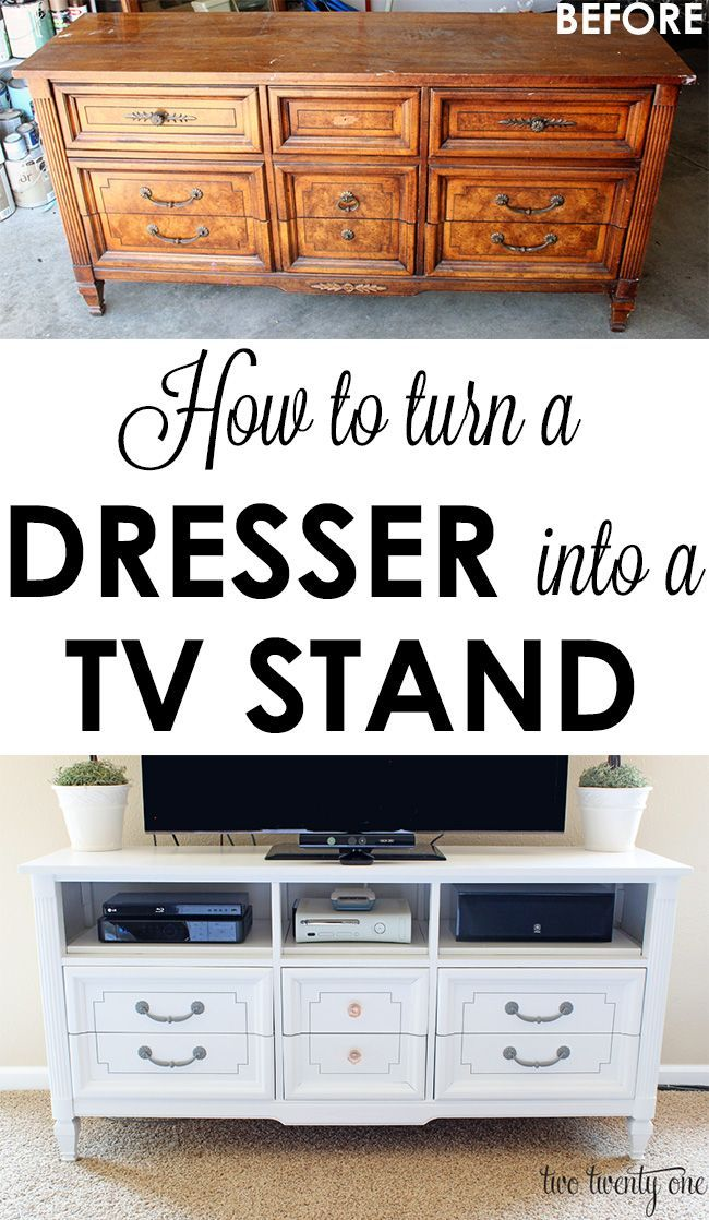 Great Step By Tutorial On How To Turn An Old Dresser Into A Tv Stand Total Cost 83