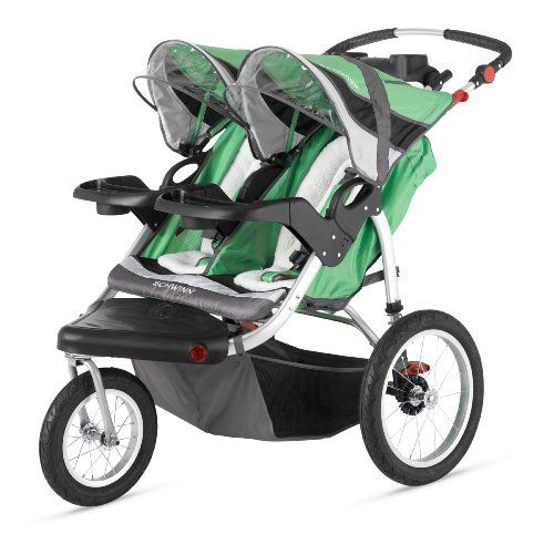 Schwinn Turismo Double Swivel Stroller, Green/Black Pacific Cycle    In case we can't fix the one we have...