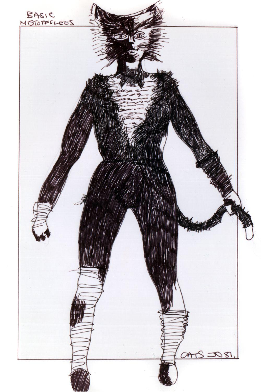 Mistoffelees basic original costume design, John Napier