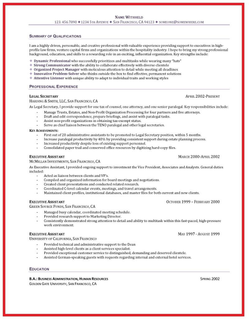 sample functional resume for administrative assistant - Selo.l-ink.co