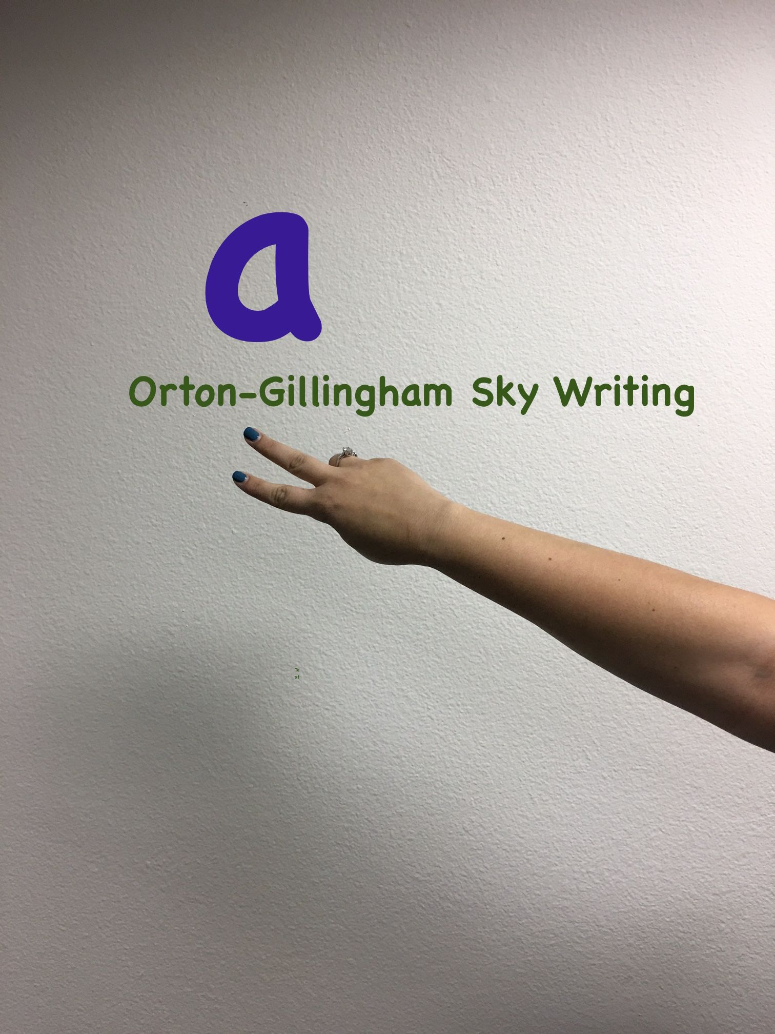 How I Use Sky Writing With My Students In Orton Gillingham