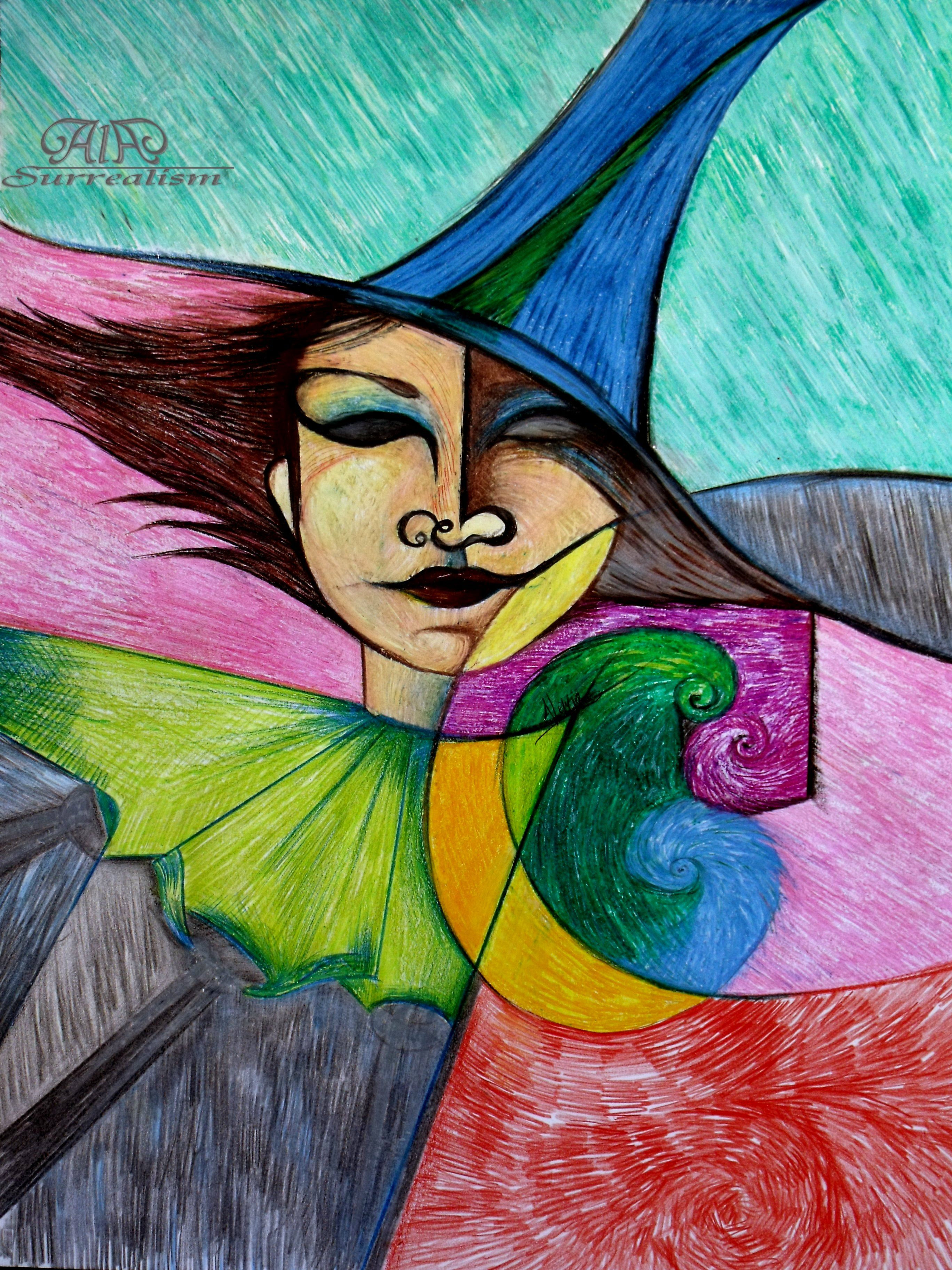 A. Alenia Laguardia Coiled Coloured Introspections Oil Pastels on ...