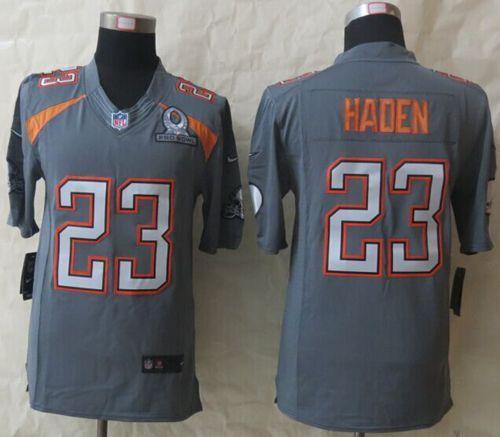 "$25.88 at ""MaryJersey"" (maryjerseyelway@gmail.com) Nike Browns No.23 Joe Haden Grey Pro Bowl Men's Stitched NFL Elite Team Irvin Jersey"