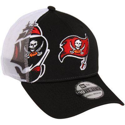 New Era Tampa Bay Buccaneers QB Sneak 39THIRTY Flex Hat - Black White 8ce25990bc4