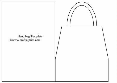 Hand Bag Card Template on Craftsuprint designed by Rob Jackson - blank greeting card template word