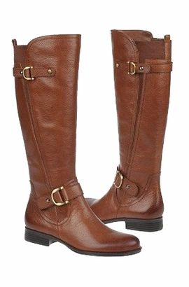 Womens Boots Naturalizer Juletta Wide Calf Banana Bread Leather