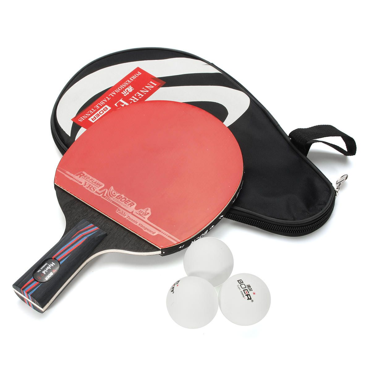 Us 19 36 Table Tennis Racket Ping Pong Paddle Short Handle Shake Hand Indoor Table Tennis Team Sport From Sports Outdoor On Banggood Com