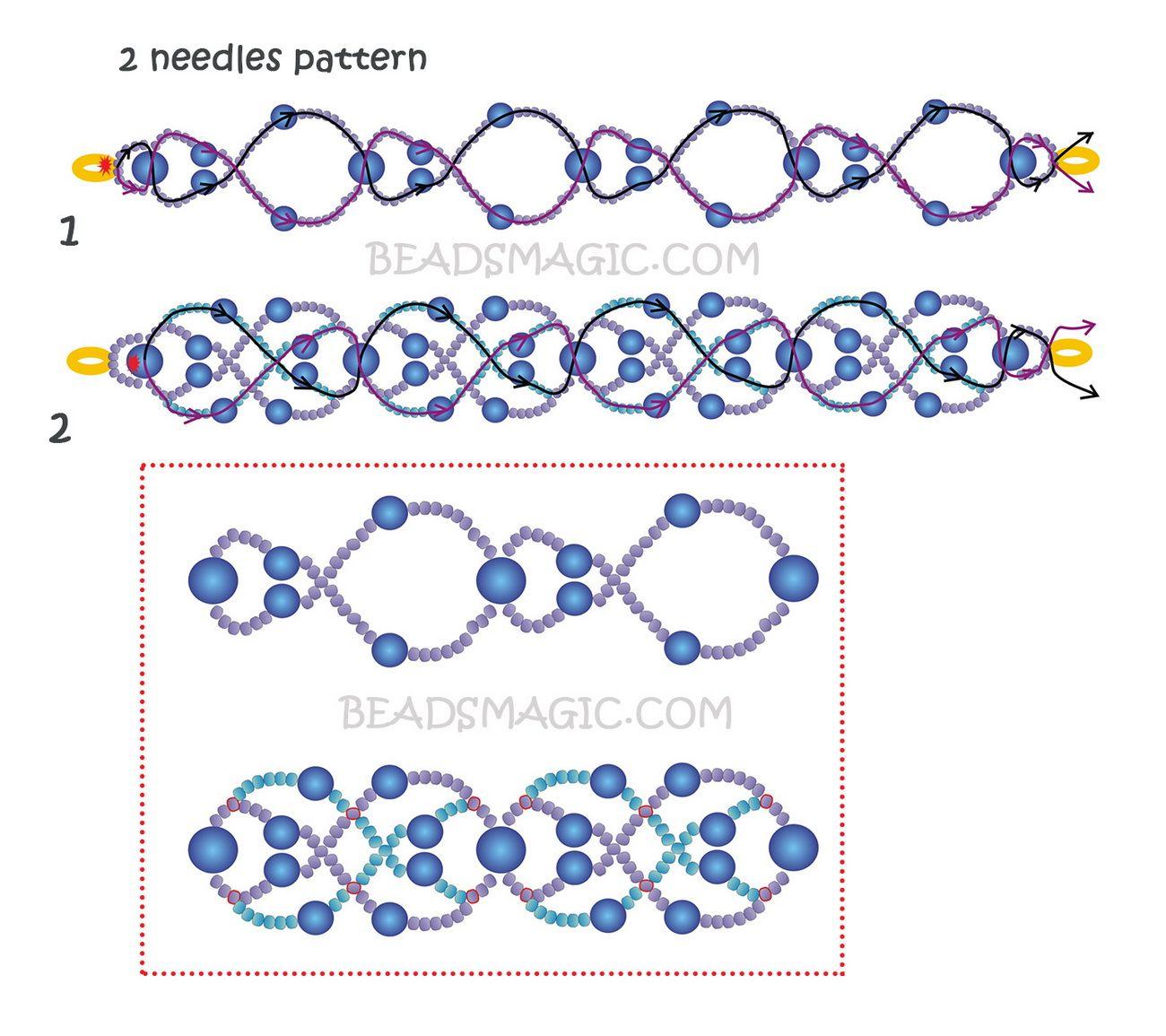 Free pattern for bracelet Blue Lagoon | Beading | Pinterest ...