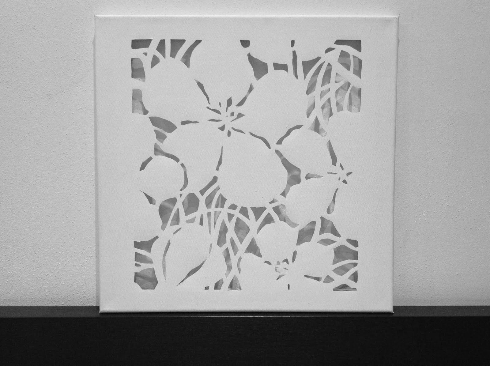 Diy canvas cutouts flowers white by judithinks - Leinwand dekorieren ...