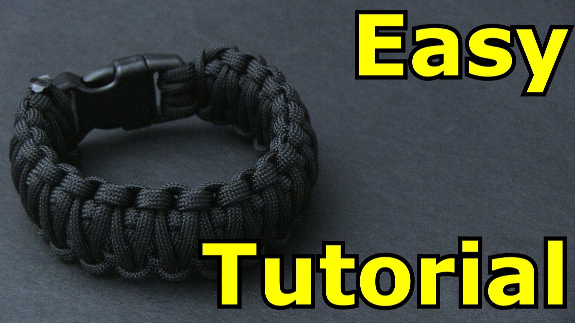 Easy Paracord Bracelet Tutorial (King Cobra)