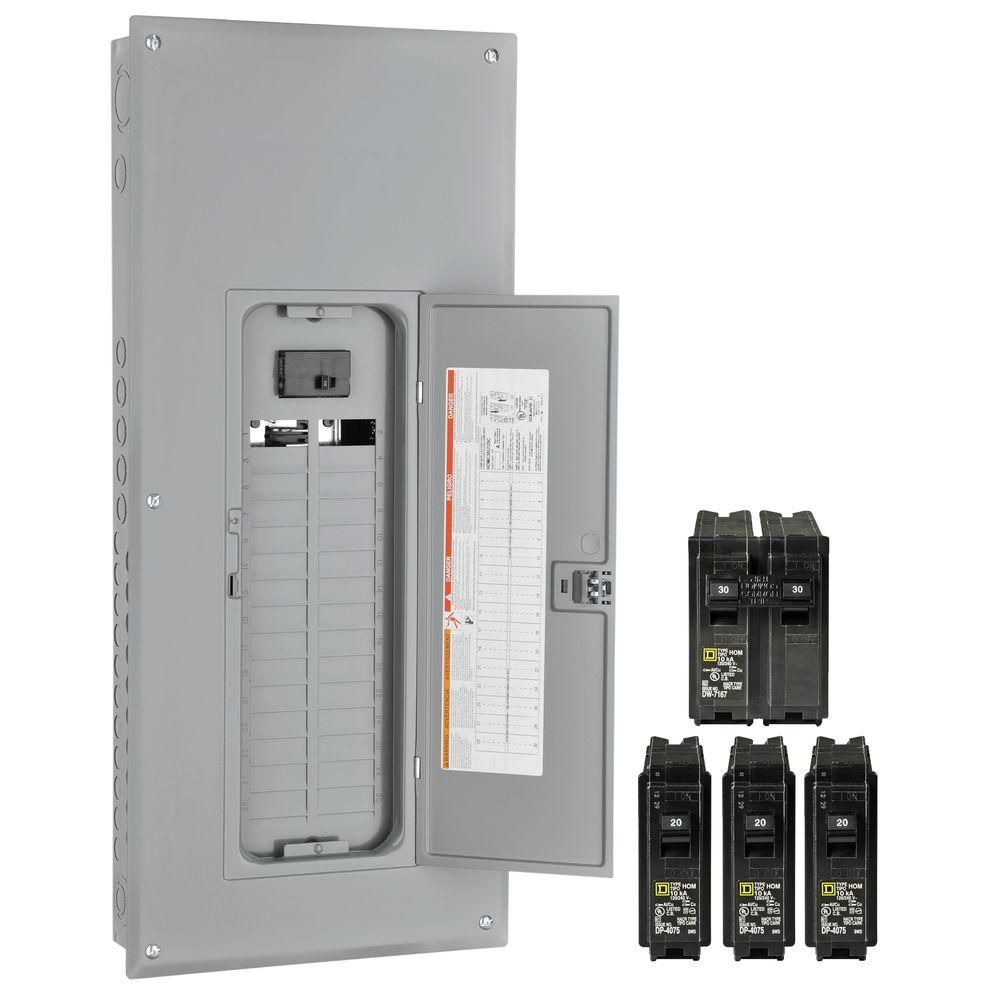 Square D Homeline 150 Amp 30-Space 40-Circuit Indoor Main Breaker Load  Center