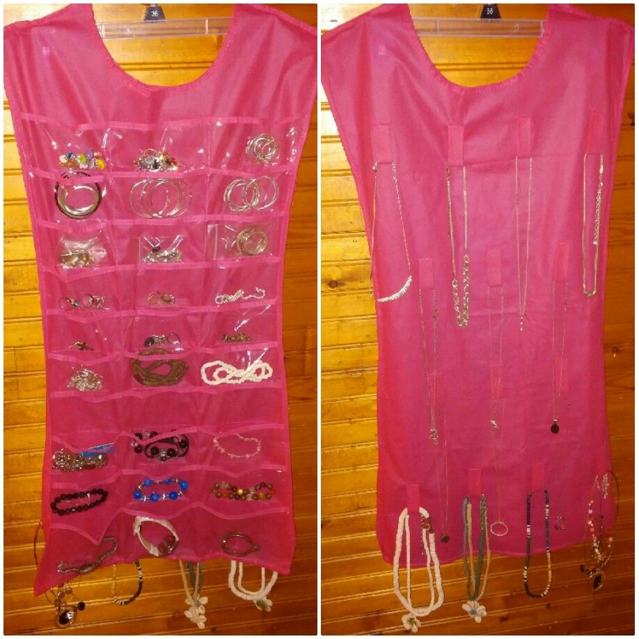 Two sided jewelry organizer