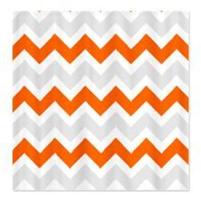 orange chevron shower curtain. Orange  Gray Chevron Shower Curtain Bathroom Ideas Pinterest