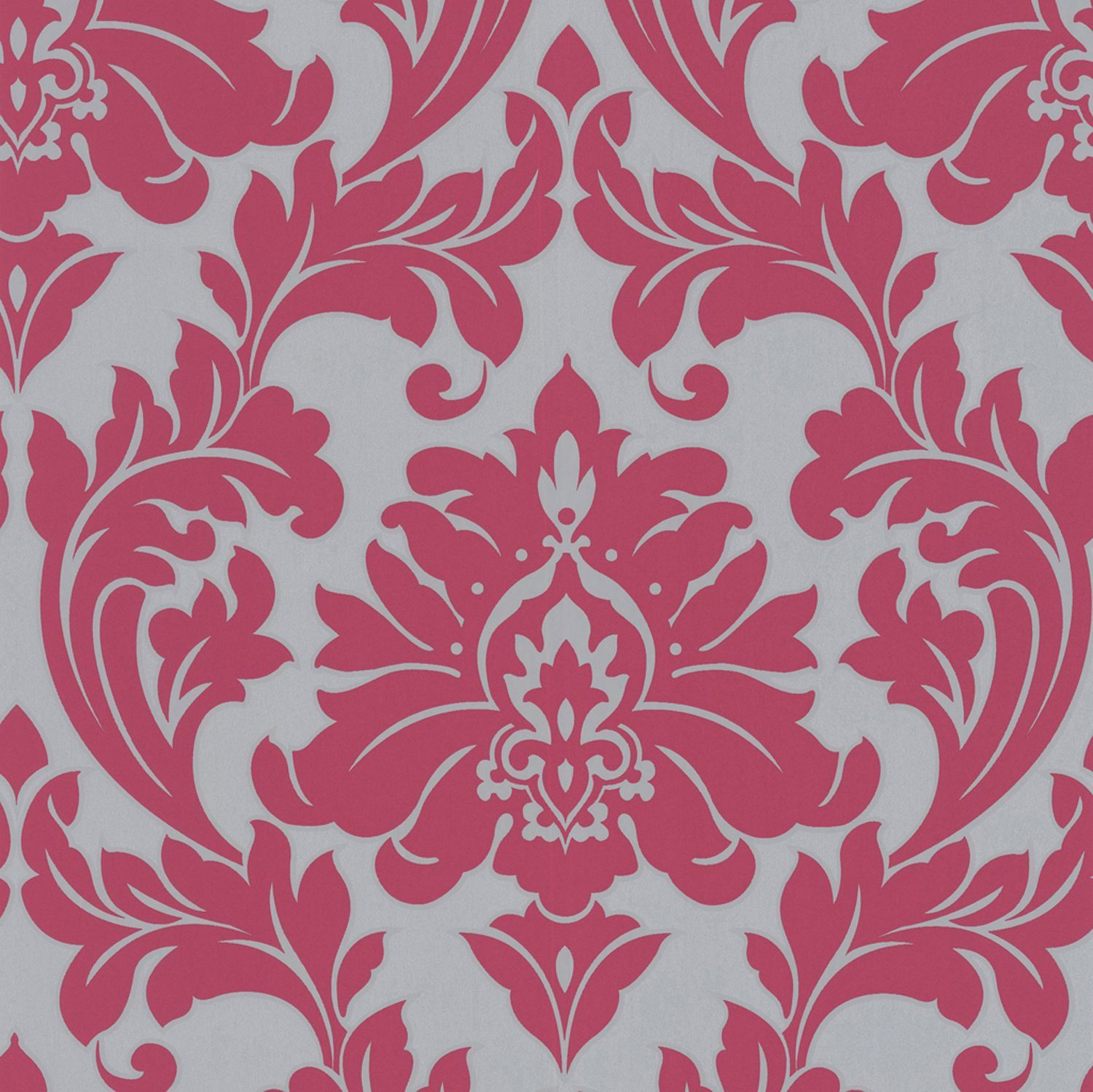 Free Delivery On Majestic Hot Pink Damask Wallpaper