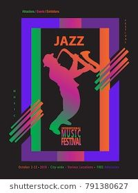 Jazz music festival abstract dynamic color shapes poster colorful jazz music festival abstract dynamic color shapes poster colorful modern art invitation vector template for stopboris Image collections
