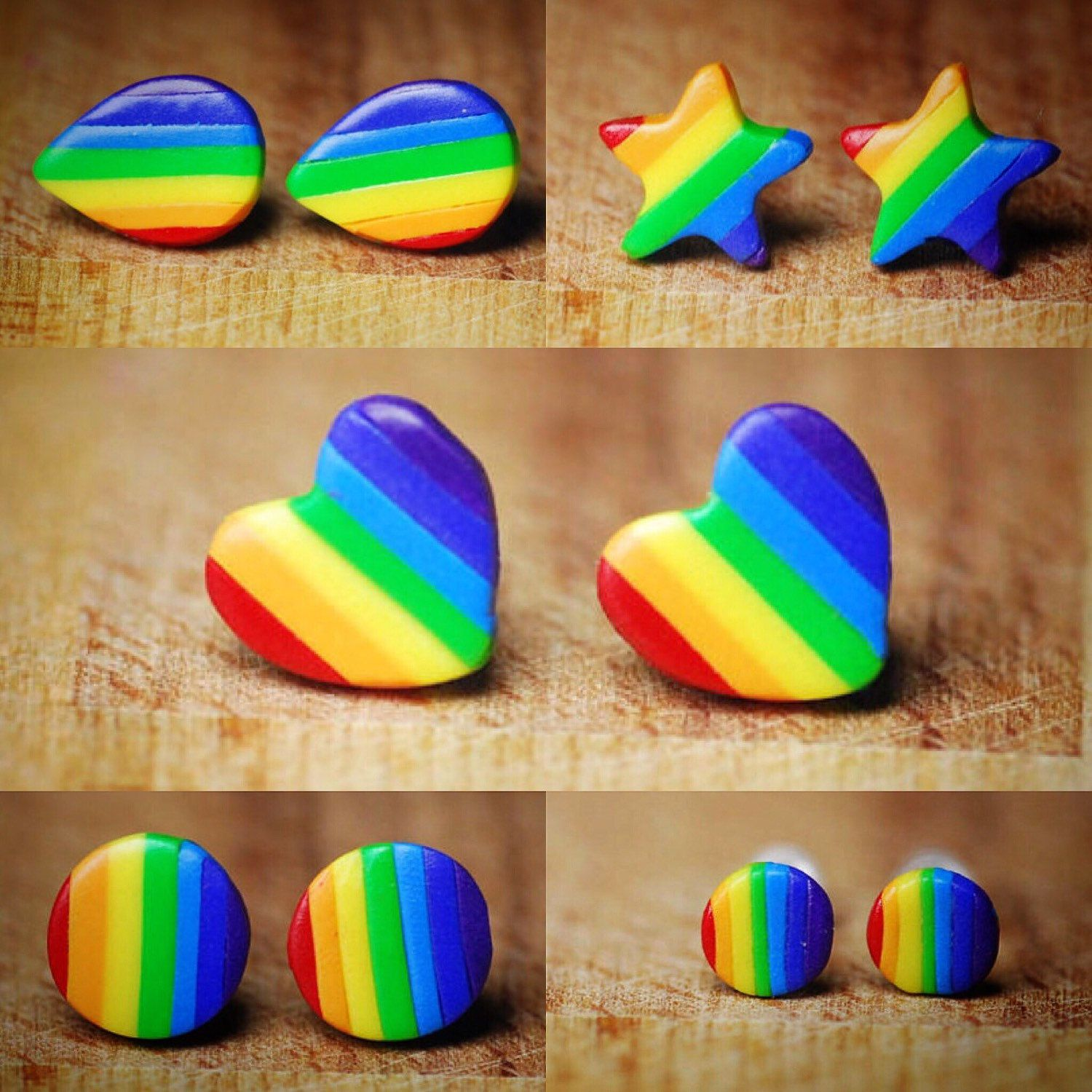 Our rainbow studs are so colourful and cheerful!