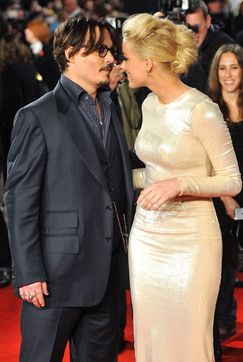 Johnny Depp And Amber Heard At The Premiere Of Rum Diary At Odeon Kensington London England Johnny Depp And Amber Amber Heard Johnny Depp Johnny Depp