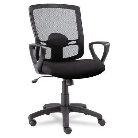 Alera Alera Etros Series Mesh Mid Back Swivel Tilt Chair Black