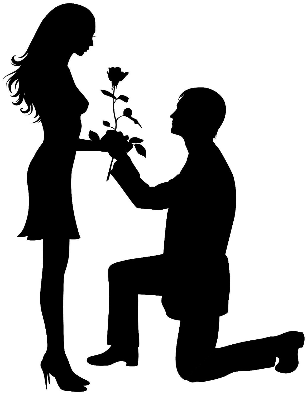 Framed Print Silhouette Man Proposing To A Woman Picture Will You Marry Me In 2021 Silhouette Painting Silhouette Pictures Couple Silhouette