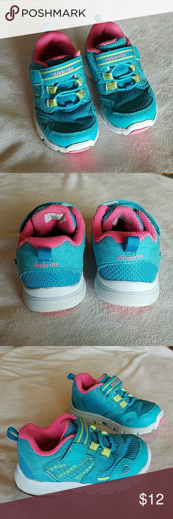 Girls stride rite tennis shoes For sale toddler girls size ...