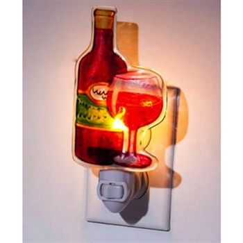 Wine Bottle and Wine Glass Night Light