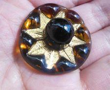 Vintage 1950s Bimini Style London Art Glass Button