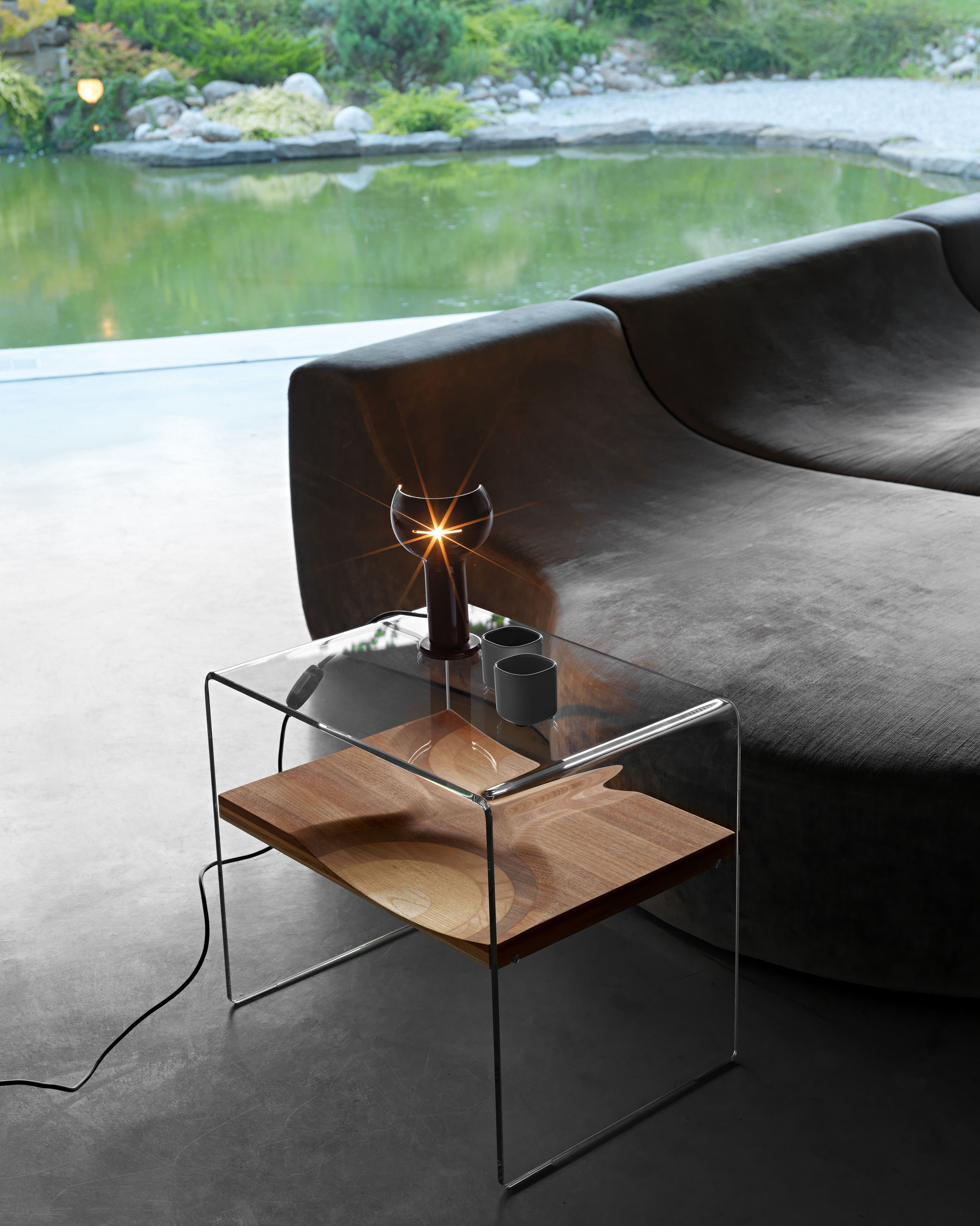 Toyo Ito Architect Ripples Side Table In Glass Composite Of Varied Layered Wood Species Interior Furniture Coffee Table Furniture Side Tables [ 4433 x 3543 Pixel ]