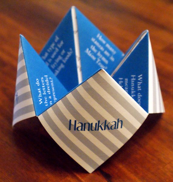 Hanukkah Card Decoration Cootie Catcher by DesignsByTenisha, $10.00