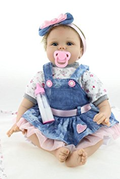 Lovely 22/'/' Handmade Full Silicone Vinyl Reborn Baby Doll Newborn Girl RealLife