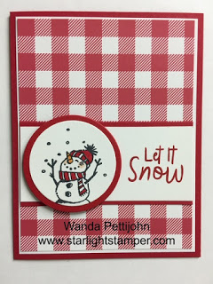 Snowman Season, Christmas Card, 2019 Stampin' Up! Holiday Catalog