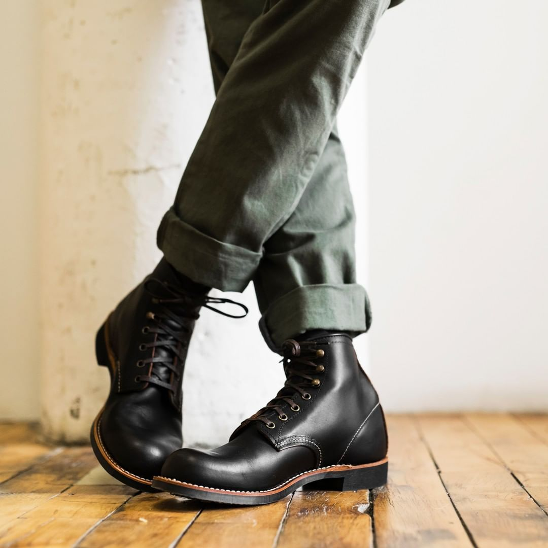 """b82e8e3fd0 Red Wing Heritage on Instagram  """"The Blacksmith in premium Black Prairie  Leather.  redwingheritage"""""""