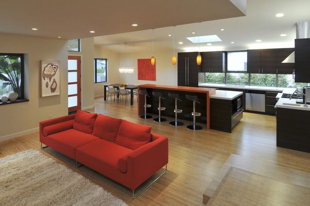 Open Concept Living Room Kitchen Design, Pictures, Remodel, Decor and Ideas